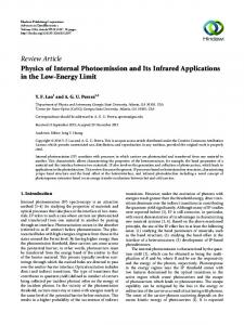 Physics of Internal Photoemission and Its Infrared Applications in the ...