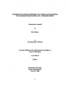 physics of nanoplatforms and their applications in ...