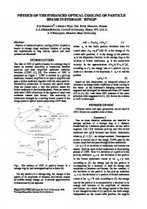 physics of the enhanced optical cooling of particle beams in