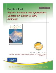 Physics: Principles with Applications - Pearson