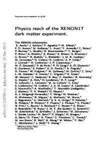 Physics reach of the XENON1T dark matter experiment