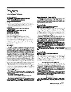 Physics - San Diego State University