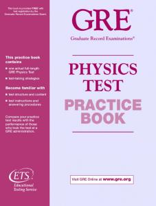 Physics Test Practice Book