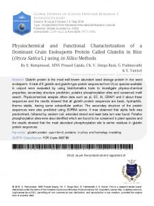 Physiochemical and Functional Characterization of a
