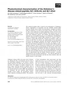 Physiochemical characterization of the ... - Wiley Online Library