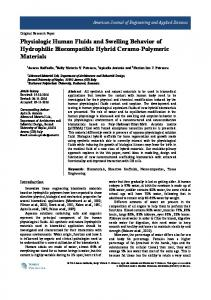 Physiologic Human Fluids and Swelling Behavior of ...