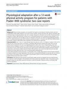 Physiological adaptation after a 12-week physical activity program for ...