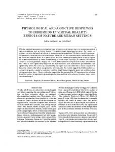 physiological and affective responses to
