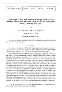 Physiological and Biochemical Changes in Host Leaf ... - Zobodat