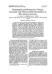Physiological and Biochemical Changes Microsporum gypseum