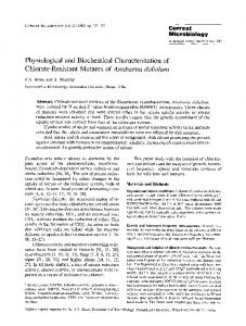 Physiological and biochemical characterization of ... - Springer Link