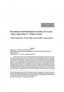 Physiological and biochemical responses of cowpea (Vigna ...