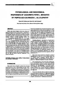 physiological and biochemical responses of cucurbita ...
