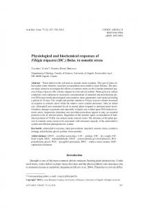 Physiological and biochemical responses of Fibigia triquetra (DC ...