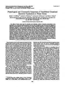 Physiological and Community Responses of Established Grassland ...
