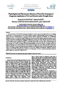 Physiological and Fluorescence Reaction of Four ...