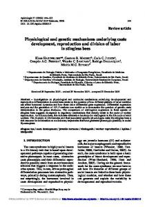 Physiological and genetic mechanisms underlying caste development ...