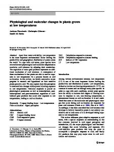 Physiological and molecular changes in plants ... - Plantstress.com