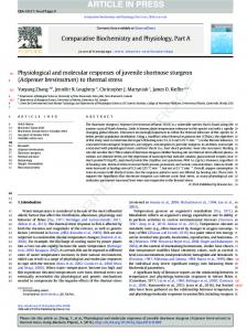 Physiological and molecular responses of juvenile ...