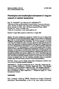 Physiological and morphological development of ... - Springer Link
