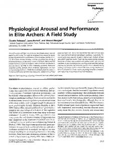 Physiological Arousal and Performance in Elite Archers: A Field Study