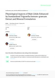 Physiological Aspects of Male Libido Enhanced by