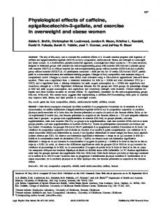 Physiological effects of caffeine ... - NRC Research Press