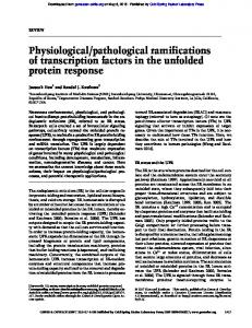 Physiological/pathological ramifications of ...