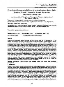 Physiological Response to Different Irradiation Regimes ... - CiteSeerX