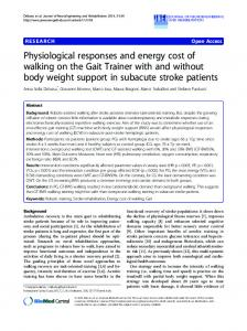 Physiological responses and energy cost of walking on ... - CiteSeerX