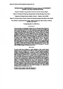 PHYSIOLOGICAL RESPONSES OF Porphyra haitanesis TO ... - SciELO