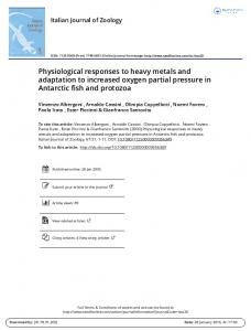 Physiological responses to heavy metals and ...