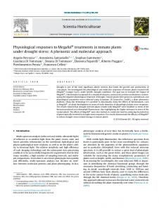 Physiological responses to Megafol® treatments in ... - iris.sssup.it