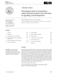 Physiological roles of nonselective cation ... - Wiley Online Library