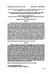 physiological status, blood profile and body composition of sheep fed ...