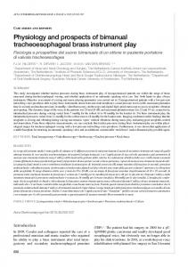 Physiology and prospects of bimanual tracheoesophageal brass ...
