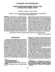 PHYSIOLOGY AND REPRODUCTION Potential ... - PubAg - USDA