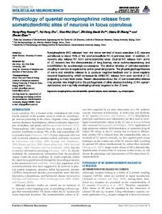 Physiology of quantal norepinephrine release from ... - CiteSeerX