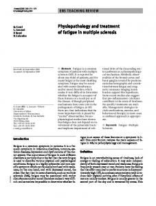 Physiopathology and treatment of fatigue in multiple sclerosis