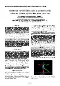 PHYSIOSONIC - MOVEMENT SONIFICATION AS AUDITORY ...