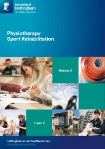 Physiotherapy and Rehabilitation Sciences Undergraduate study 2014