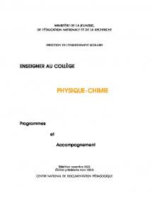 PHYSIQUE-CHIMIE - Cndp