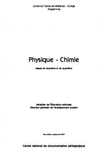 Physique - Chimie - CNDP