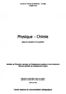 Physique - Chimie