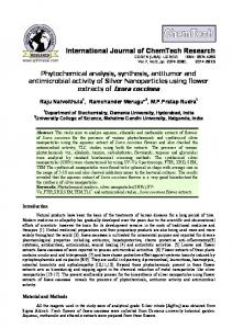 Phytochemical analysis, synthesis, antitumor and antimicrobial activity ...