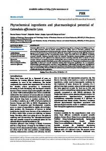 Phytochemical ingredients and Pharmacological potential of