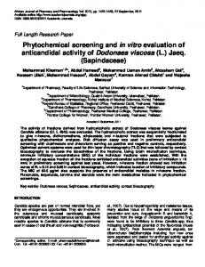 Phytochemical screening and in vitro evaluation of