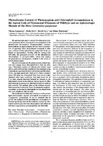 Phytochrome Control of Phototropism and Chlorophyll