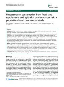 Phytoestrogen consumption from foods and supplements ... - CiteSeerX