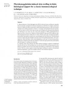 Phytohemagglutinin-induced skin swelling in birds - Wiley Online Library